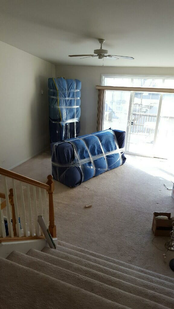 Elite Moving & Storage - Elite Mover - Sofa and loveseat wrapping
