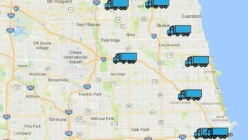 GPS Trackers Installed in our Chicagoland Moving Trucks!