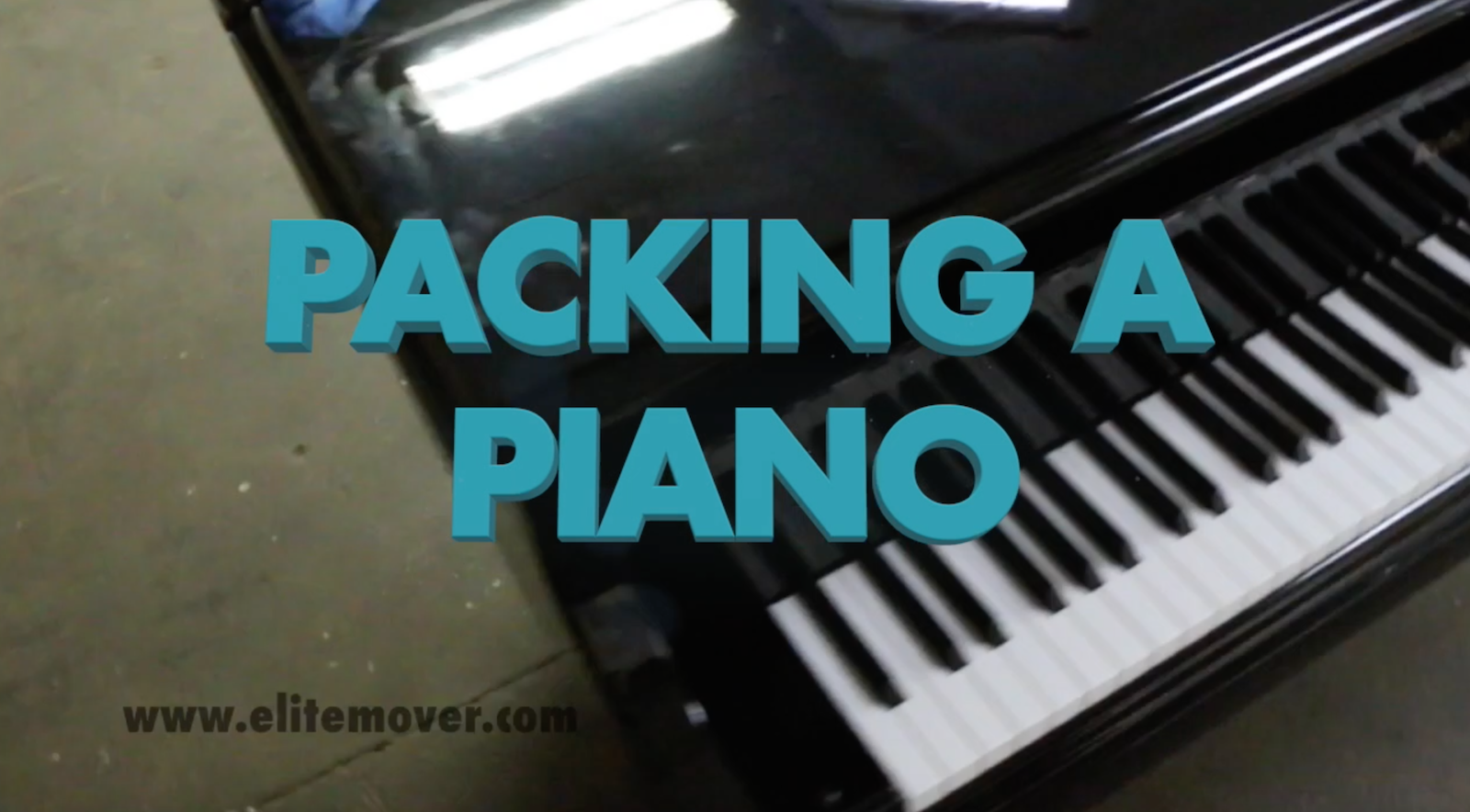 how to move a piano