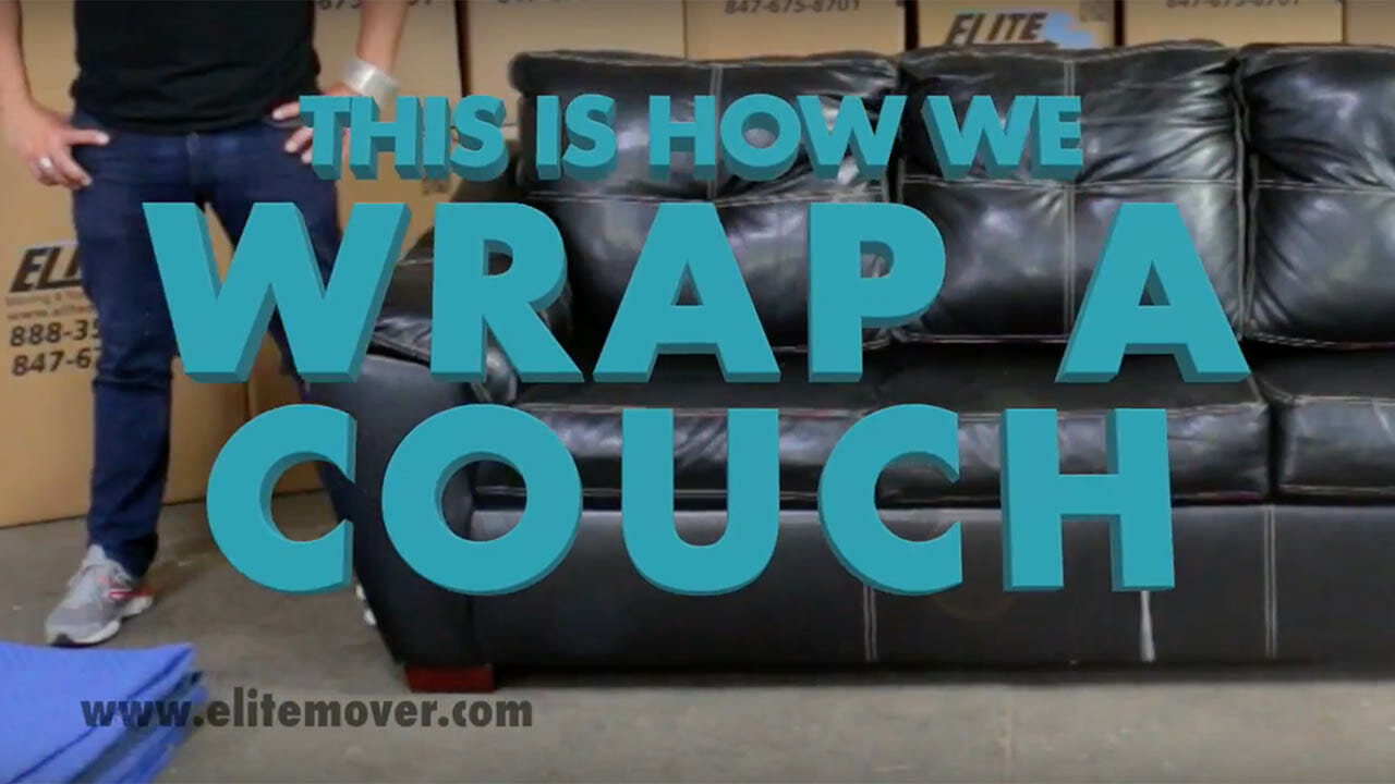 how to wrap a couch