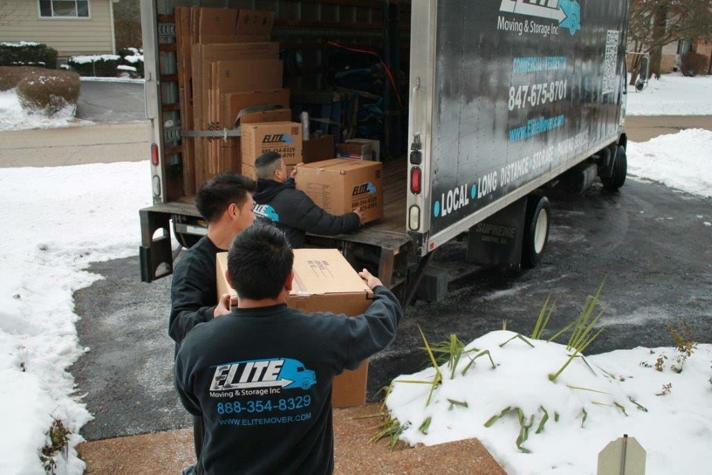 Snowy Day for Elite Moving & Storage