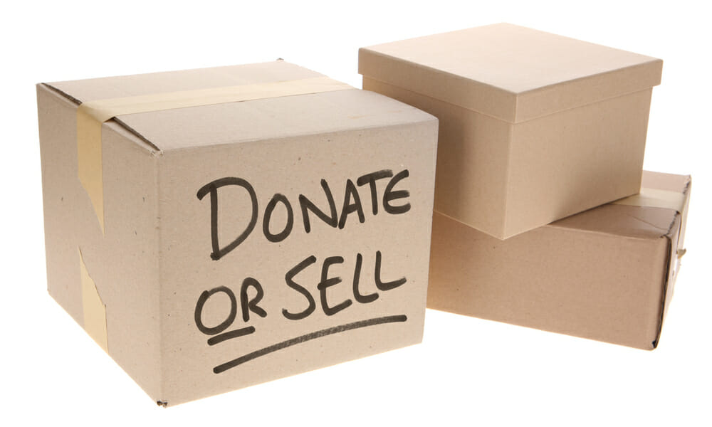 donate or sell cardboard boxes