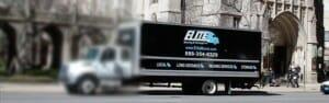 blurred truck