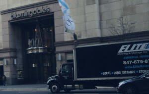 Elite moving outside Bloomingdale's