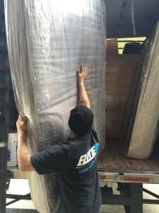 mattress packing into truck