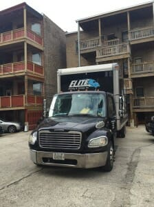 elite moving truck black