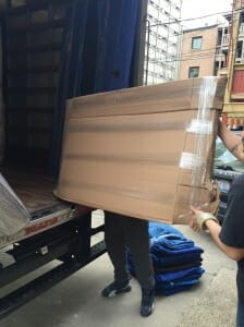 packing a TV