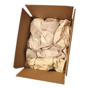 packing paper filled box