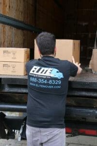 Elite mover push box on semi truck