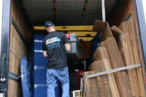 Elite movers unloading semi truck