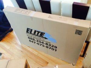 Elite logo oblong cardboard box
