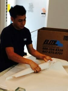 Elite mover wrapping fragile item