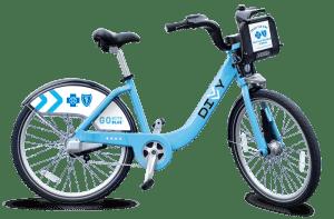 Divvy bike sharing, rental bikes, blue